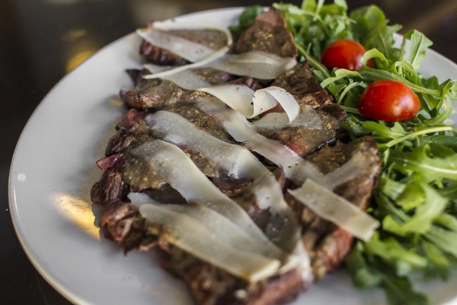 tagliata di carne danese del ristorante